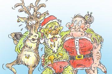 Drame sur le pôle Nord: le Père Noël est atteint d'une maladie incurable. Illustration: Alexandre April