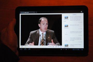 L'Assemblée générale sur tablette tactile. Photo: CPD RDL