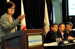 « On parle ici de la création d'une nouvelle entité bilingue, qui pourrait parler d'une voix forte au niveau des gouvernements et qui pourrait mieux desservir, sans duplicata, les coopératives à travers le Canada. » - Marthe Hamelin, présidente du CCCM. Photo: N.Falcimaigne