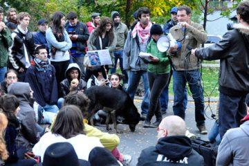 Assemblée générale du 15 octobre, premier jour d'occupation. Photos: N.Falcimaigne