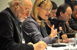 Claire Bolduc, présidente de la coalition Solidarité rurale du Québec (SRQ), s'en est prise à la perte de contrôle des institutions, que ce soient l'État ou les structures coopératives, associatives et syndicales. Photo: N.Falcimaigne