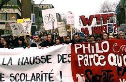 Pour une rare fois, les associations étudiantes nationales ont joint leurs forces afin de mobiliser le plus d'étudiants possible. L'ASSÉ, la FECQ, la FEUQ et la Table de concertation étudiante du Québec (TACEQ) étaient les organisateurs de ce rassemblement, vu comme le plus grand depuis 2005 contre les coupures de 103 millions $. Photo: Isabelle St-Pierre Roy