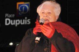 Louise Harel, chef de l'opposition officielle à l'Hôtel de Ville de Montréal, a tenu à exprimer son soutien à l'événement Fin Novembre. Photo: G.Haelterman